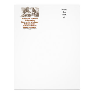 Wonderland Time Has Come Through Looking Glass Letterhead