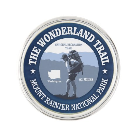 Wonderland Trail (rd) Pin