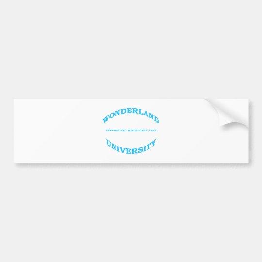 Wonderland University Bumper Sticker
