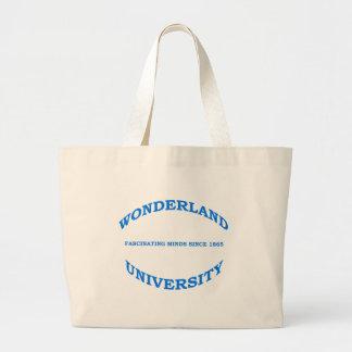 Wonderland University in Blue Large Tote Bag