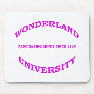 Wonderland University in Magenta Pink Purple Mouse Pad