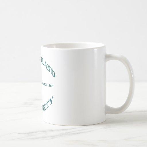 Wonderland University in Teal Hunter Green Classic White Coffee Mug