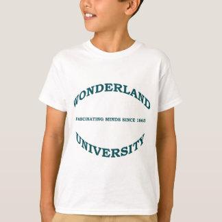 Wonderland University in Teal Hunter Green T-Shirt