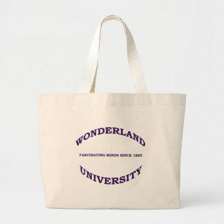 Wonderland University Large Tote Bag