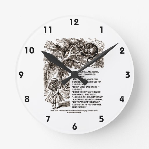 Wonderland Which Way I Ought To Go From Here Wallclocks