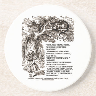Wonderland Which Way I Ought To Go From Here Drink Coasters