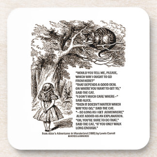 Wonderland Which Way I Ought To Go From Here Beverage Coasters