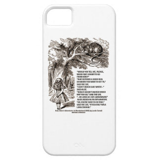 Wonderland Which Way I Ought To Go From Here iPhone SE/5/5s Case