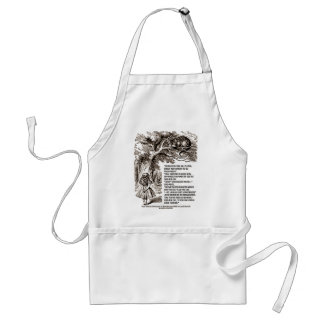 Wonderland Which Way I Ought To Go Quote Adult Apron