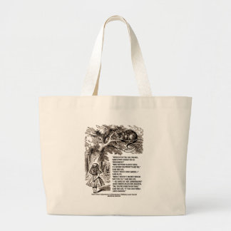 Wonderland Which Way I Ought To Go Quote Large Tote Bag
