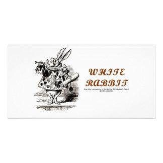 Wonderland White Rabbit Photo Card
