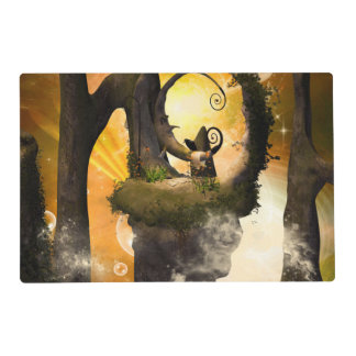 Wonderland with rocks and moon placemat