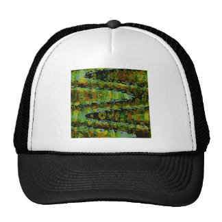 Wonderlands - Dark Green Lagoons Mesh Hats