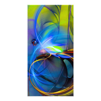 Wonderment - colorful digital abstract art card
