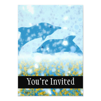 Wonderous Dolphins In The Sparkling Mystical Sea Card