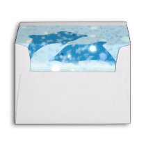 Wonderous Dolphins In The Sparkling Mystical Sea Envelope
