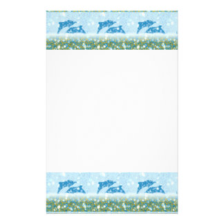 Wonderous Dolphins In The Sparkling Mystical Sea Stationery