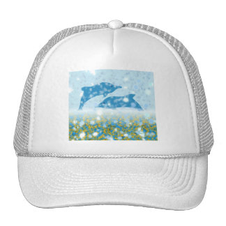 Wonderous Dolphins In The Sparkling Mystical Sea Trucker Hat