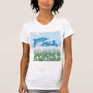 Wonderous Dolphins In The Sparkling Mystical Sea Shirt