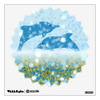 Wonderous Dolphins In The Sparkling Mystical Sea Wall Decal