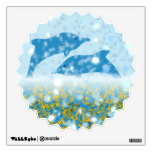 Wonderous Dolphins In The Sparkling Mystical Sea Room Decal