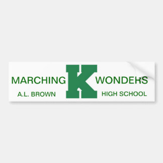 Wonders Marching Band Pride Car Bumper Sticker