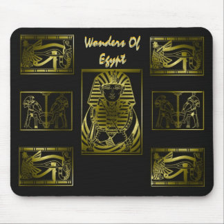 Wonders Of Egypt Gold Mouse Pad