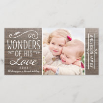 Wonders of His Love | Christmas Photo Card
