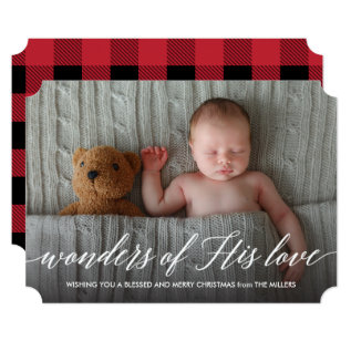 Wonders of His Love Holiday Photo Card at Zazzle