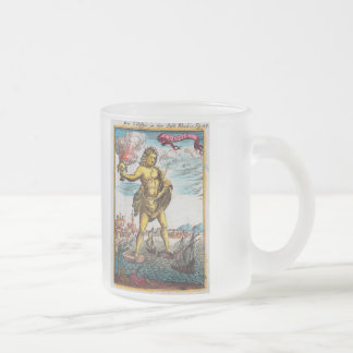Wonders Of The Ancient World Frosted Glass Coffee Mug