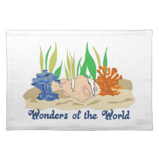 WONDERS OF THE WORLD CLOTH PLACE MAT