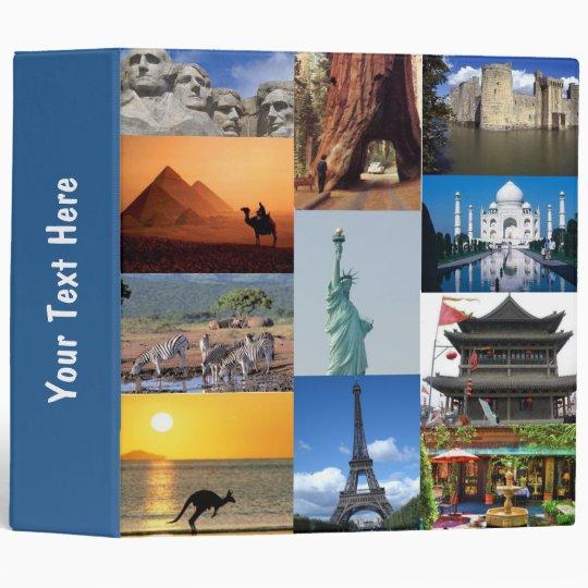 Wonders of the World Vacation Binder