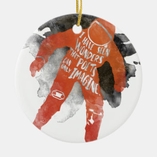 Wonders Double-Sided Ceramic Round Christmas Ornament