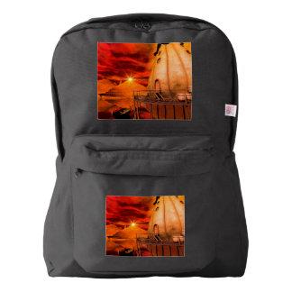 Wonderworld in the sunset backpack