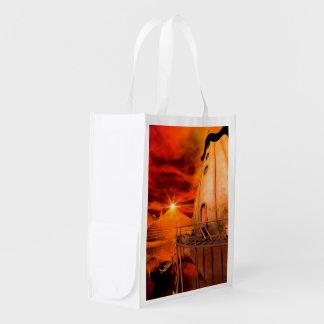 Wonderworld in the sunset grocery bag