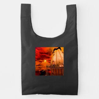 Wonderworld in the sunset reusable bag