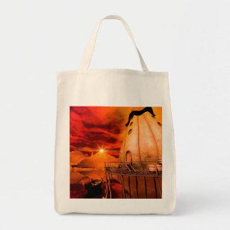 Wonderworld in the sunset tote bag