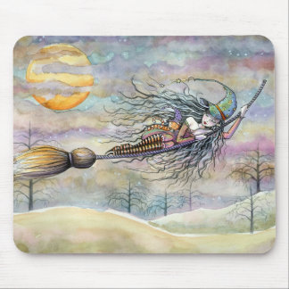 Wondrous Flight on Halloween Night Mousepad