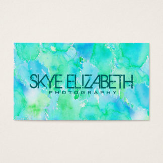 Wondrous Watercolors Business Card