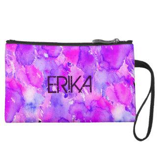 Wondrous Watercolors Pink & Purple Wristlet Purses