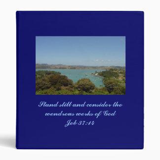 Wondrous Works [of God] - Job 37:14 Vinyl Binder