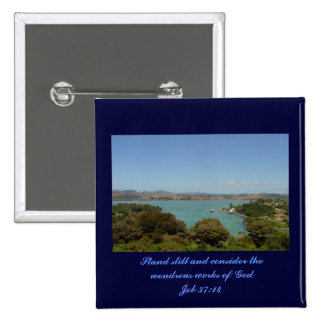 Wondrous Works [of God] - Job 37:14 2 Inch Square Button