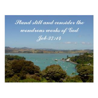 Wondrous Works [of God] - Job 37:14 Postcard
