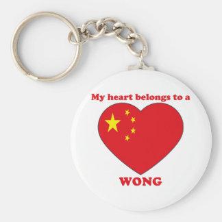 Wong Basic Round Button Keychain