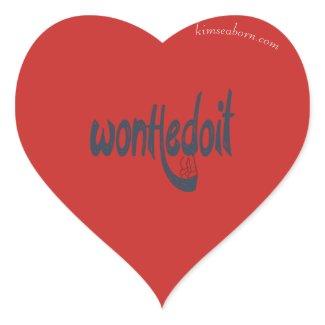 WonHedoit Red & Black Heart Stickers