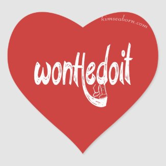 WonHedoit Red Heart Stickers