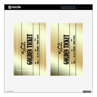 Wonka Golden Ticket Skin For Kindle Fire