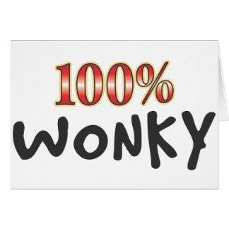 Wonky 100 Percent Card