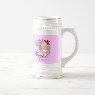 Wonky Happy Birthday Girl 1 Year Old Beer Stein