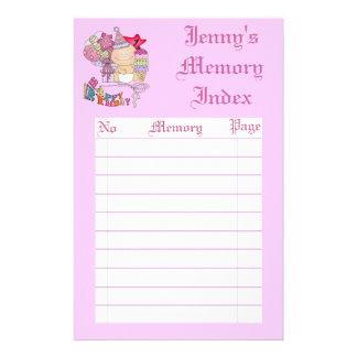 Wonky Happy Birthday Girl 1 Year Old Binder Customized Stationery